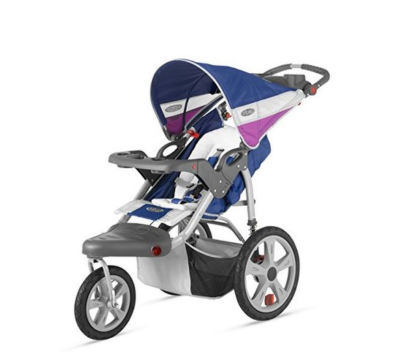 InStep Grand Safari Single Swivel Stroller blue/grape