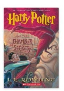 Harry Potter and The Chamber of Secrets paperback book cover